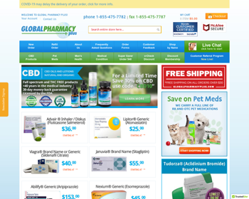 Global Pharmacy Plus Offers Free Delivery And It Is Easy To Place An Order, Saving A Lot Of Time And Effort.
