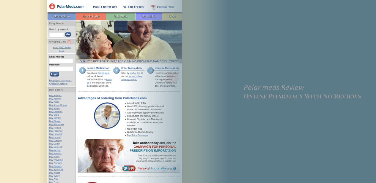 Polar Meds Review - Online Pharmacy With No Reviews