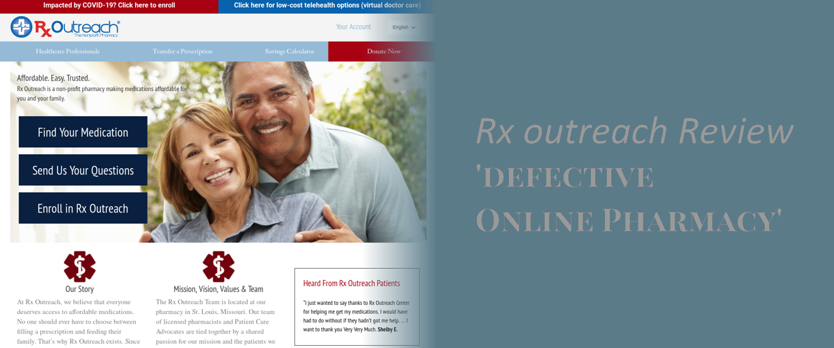 Rx Outreach Review - 'defective Online Pharmacy'